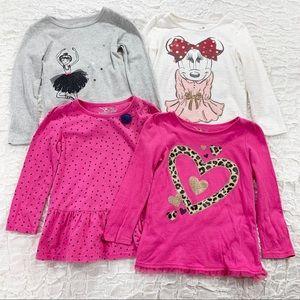 Girls 3T long sleeve tee shirt bundle